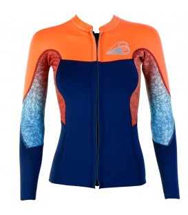 abyss top manches longues front zip 2018