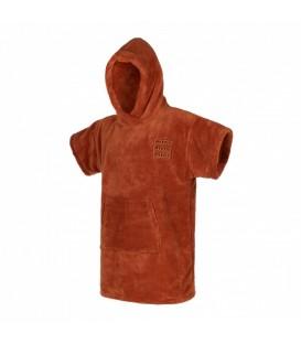 poncho teddy rusty red junior
