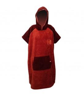 poncho sherpa rouge