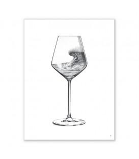 illustration blue wine